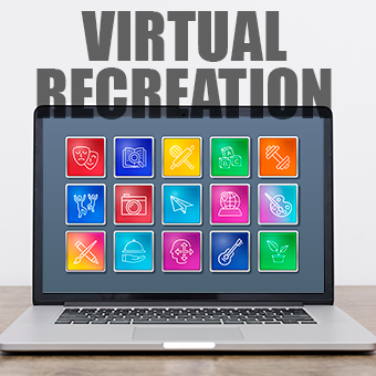 Virtual Recreation Center picture of a computer with recreation icons