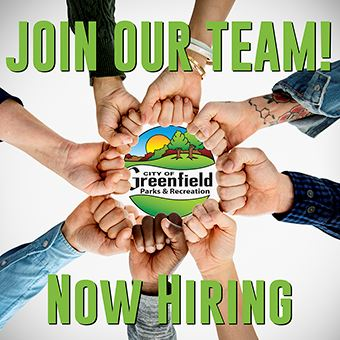 Greenfield Parks and Recreation Now Hiring