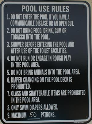 Sign listing pool rules
