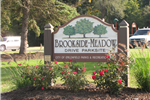 Brookside Meadow Drive Park Sign