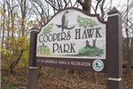 The Coopers Hawk Park Sign is visible from the head of the nature trail.